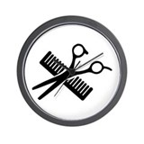 Comb and scissors Wall Clocks