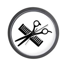 Comb & Scissors Wall Clock