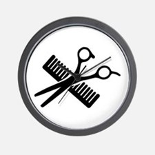 Comb & Scissors Wall Clock