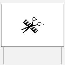 Comb & Scissors Yard Sign
