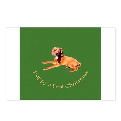 Puppy's First Christmas Postcards (Package of 8)