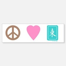 Peace Love Mah-Jong Bumper Bumper Bumper Sticker