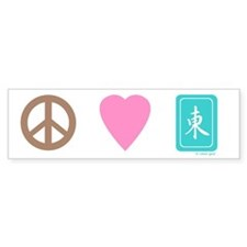 Peace Love Mah-Jong Bumper Bumper Sticker
