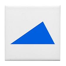 Blue triangle Tile Coaster
