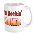 Property Of A Rockin Music Teacher Large Mug