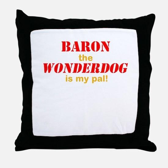 The Wonderdog Throw Pillow