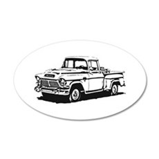 Old GMC pick up 22x14 Oval Wall Peel