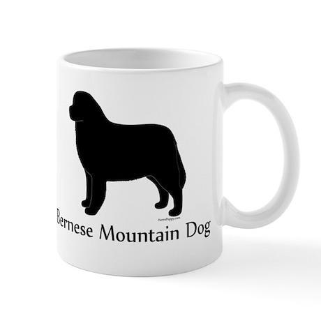Bernese Mtn Dog Silhouette Mug
