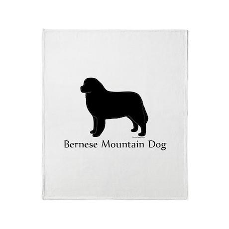 Bernese Mtn Dog Silhouette Throw Blanket