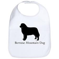 Bernese Mtn Dog Silhouette Bib