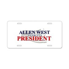 Unique Allen Aluminum License Plate