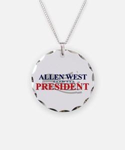 Cute Allen west for president Necklace