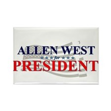 Unique Allen west president Rectangle Magnet