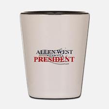 Cute West president 2012 Shot Glass