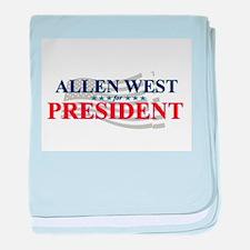 Cute Allen west baby blanket