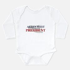 Funny West president Long Sleeve Infant Bodysuit