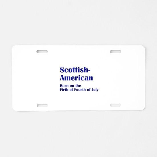 Scottish American Aluminum License Plate