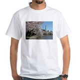 Cherry blossoms Mens White T-shirts