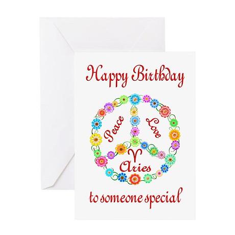 Aries Zodiac Birthday Greeting Card