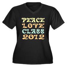 Peace Love Class 2012 Women's Plus Size V-Neck Tee