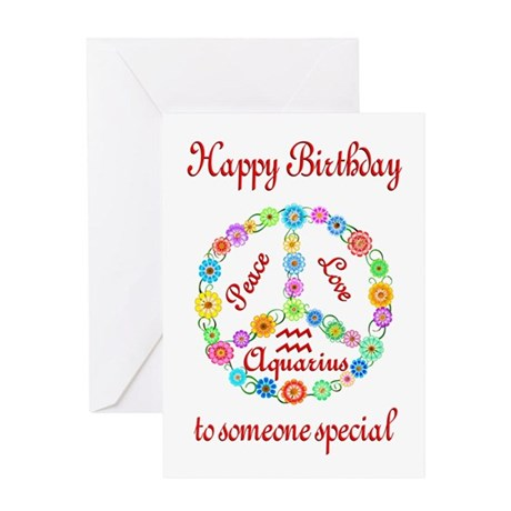 Aquarius Zodiac Birthday Greeting Card