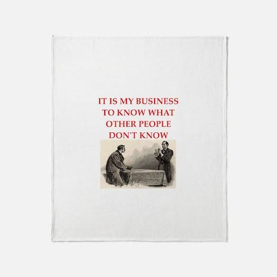 sherlock holmes Throw Blanket