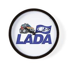 Lada Logo with Cool Niva Wall Clock