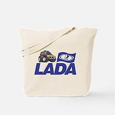 Lada Logo with Cool Niva Tote Bag
