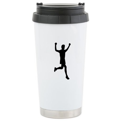 Runner running Stainless Steel Travel Mug