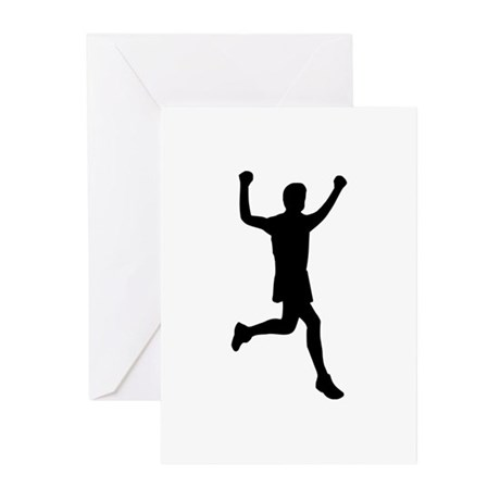 Runner running Greeting Cards (Pk of 10)