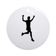 Runner running Ornament (Round)