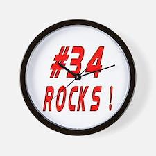 34 Rocks ! Wall Clock