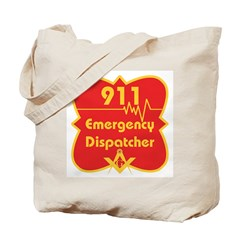 Masonic 911 Dispatcher Tote Bag