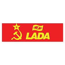 Hammer and Sickle Lada Logo Bumper Sticker