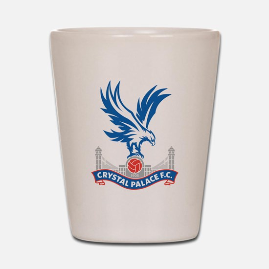 Crystal Palace FC Eagle Red White Shot Glass