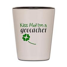 Kiss Me! I'm a Geocacher Shot Glass