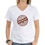 Premium Quality Stamp Women's V-Neck T-Shirt