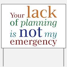 Planning Yard Sign