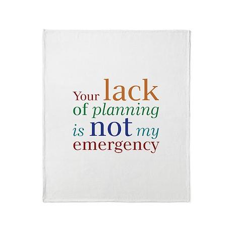 Planning Throw Blanket