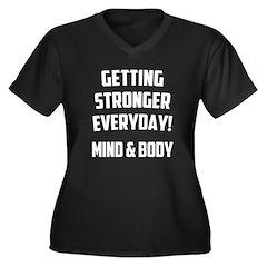 Getting Stronger...... Women's Plus Size V-Neck Da