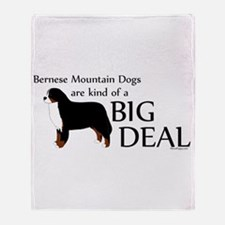 Big Deal - Berners Throw Blanket