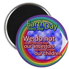 "Earth Day: Inherit the Earth 2.25"" Magnet (100 pac"