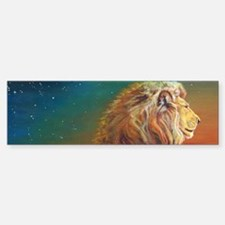 Quiet Lion Bumper Bumper Sticker
