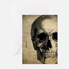 Vintage Skull Greeting Cards