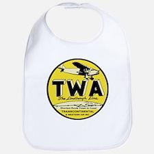 TWA 1920s Logo Baby Bib