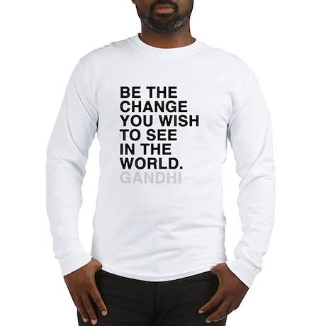 gandhi quotes Long Sleeve T-Shirt