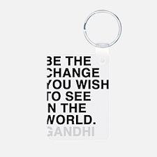 gandhi quotes Keychains