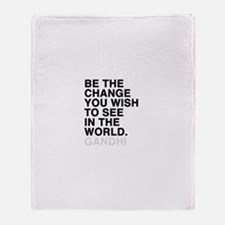 gandhi quotes Throw Blanket