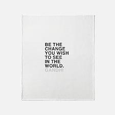 gandhi quotes Throw Blanket