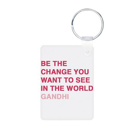 gandhi quotes Aluminum Photo Keychain